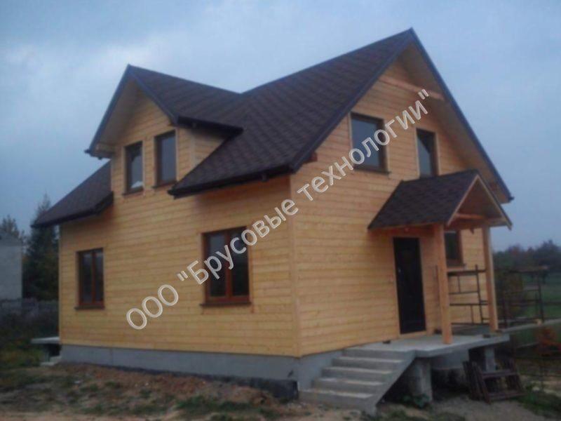 проекты домов из бруса с мансардой 10 на 10 фото