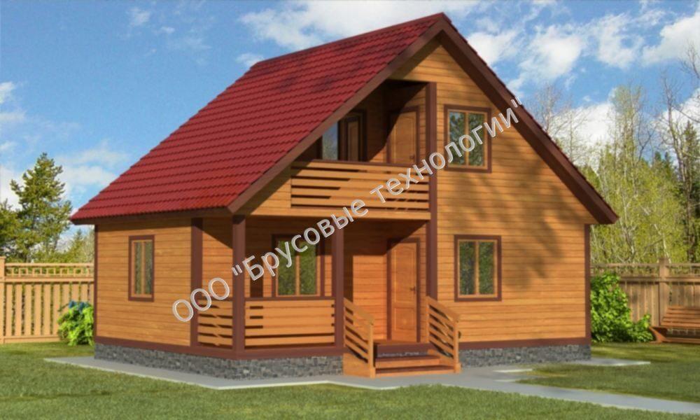 Заказать дом 6 на 8 (6х8) с балконом.