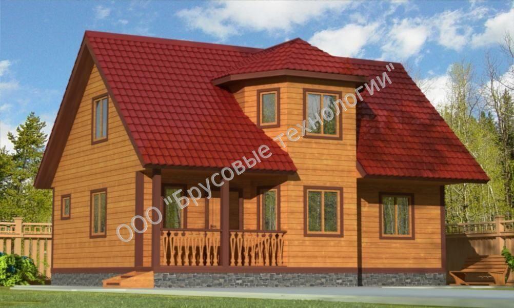 Дом из бруса 6 на 9 метров с